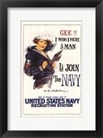 Framed I'd Join the Navy