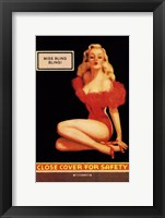 Framed Miss Bling Bling Pin-Up