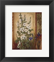 White Hollyhock Framed Print