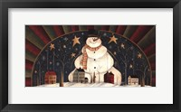 Snowman Arch Framed Print