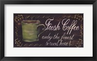Fresh Coffee Framed Print