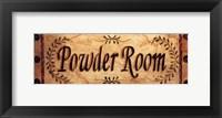 Framed Powder Room