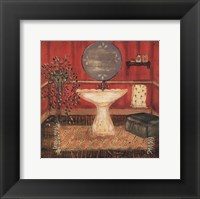 Bath in Red I Framed Print