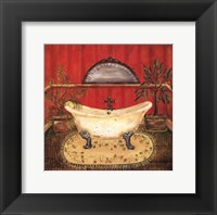 Bath in Red II Framed Print
