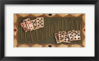 Texas Hold'em Framed Print