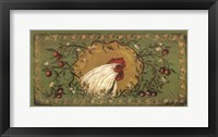Country Rooster Framed Print