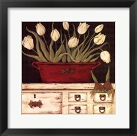White Cupboard Framed Print