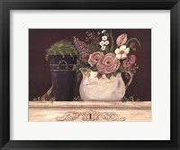 Framed Floral W-Black Bucket