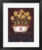 Framed Asian Daphodile Floral