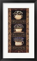 Framed Teacup Herbs II