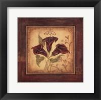 Crimson IV Framed Print