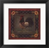 Framed Sunflower Rooster II