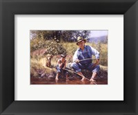Fishin' with Grandpa Framed Print