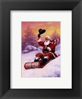 Framed Here Comes Santa