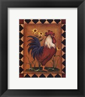 Framed Red Rooster II