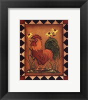 Framed Red Rooster I