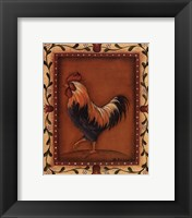 Framed Black Rooster
