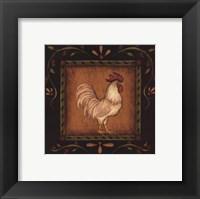 Framed White Rooster I