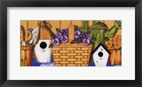 Framed Pansies in Basket