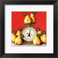 Pears on Scale Framed Print