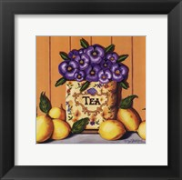 Framed Tea Pansies