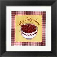 Framed Bowl of Cherries