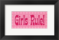 Girls Rule! Framed Print