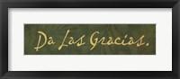 Da Las Gracias - green Framed Print
