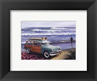 Surf City Framed Print