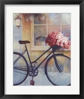 Framed Fleurs/Bicyclette I