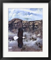 Framed Eagle - Mount Rushmore