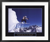 Framed Persistence - Snowboarder