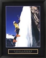 Challenge - Ice Climber Framed Print