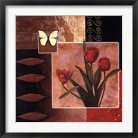 Framed Rose/Butterfly