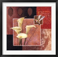 Calla Lily/Butterfly Framed Print