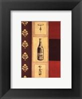 Framed Wine Study I