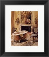 French Bath I Framed Print