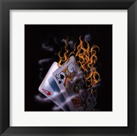 Framed Burning Blackjack