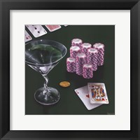 Poker Chips Big Slick Framed Print