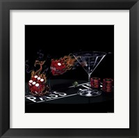 Praying for Seven (Craps) Framed Print