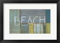 Framed Beach Sign