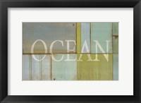 Framed Ocean Sign