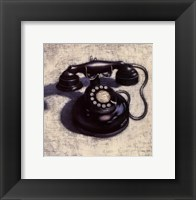 Framed Telephone - Noir