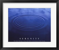 Framed Serenity - water