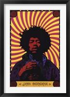 Framed Jimi Hendrix - Psychodelic