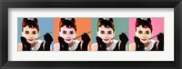 Framed Audrey Hepburn Pop Art
