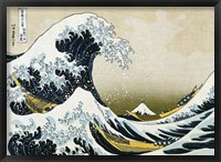 Framed Great Wave off Kanagawa, c.1830