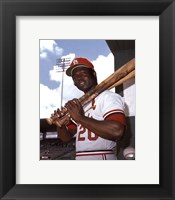 Framed Lou Brock
