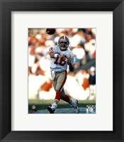 Framed Joe Montana - passing