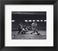 Framed Lou Gehrig - batting
